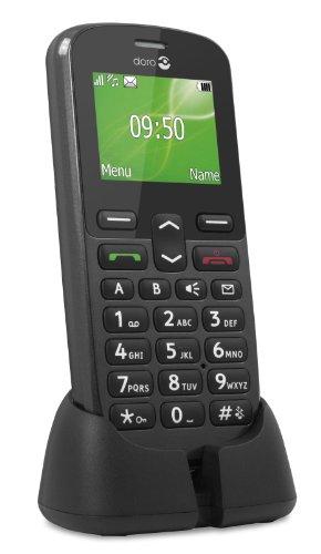 Doro PhoneEasy 508 81g Grafito - Teléfono móvil (SIM única, Despertador, calculadora, calendario, Ión de litio, GSM, Polifónico, 128 x 160 Pixeles)