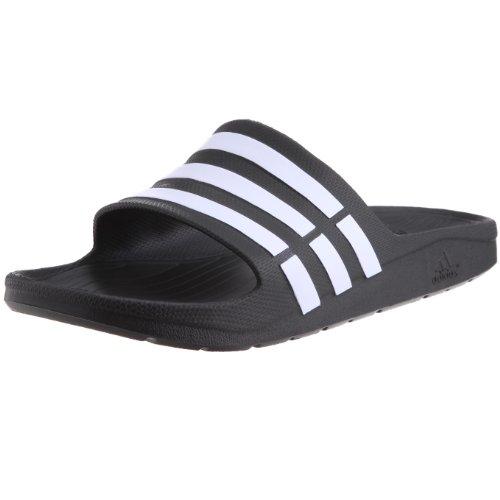 Adidas Duramo Slide - Sandalias de goma hombre, color  Negro (Black 1/White/Black 1), talla 44.5 (10 UK)