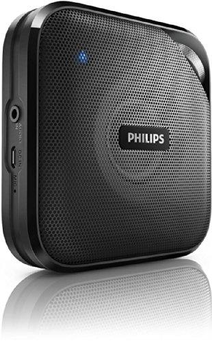 Philips BT2500B/00 - Altavoz portátil (Bluetooth, micrófono integrado), negro