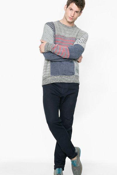 Desigual - Hombre - Sudadera con patchwork para hombre - We Can - Size XXL