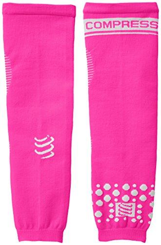 Compressport Arm Force - Calentadores de brazos de running para hombre, color rosa fluorescente, talla S