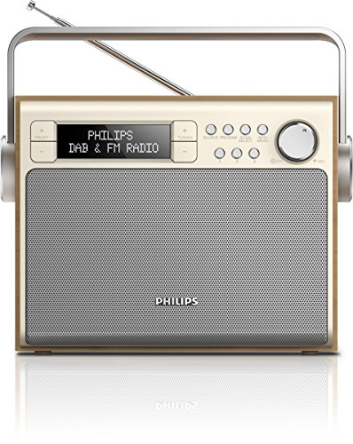 Philips AE5020/12 - Radio (3 W, pantalla LCD, DAB+), marrón