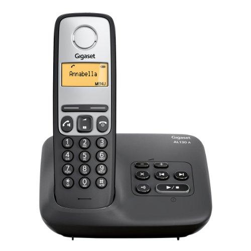 Gigaset AL130A - Teléfonos inalámbricos con contestador y pantalla LCD, color negro [Importado de Francia]