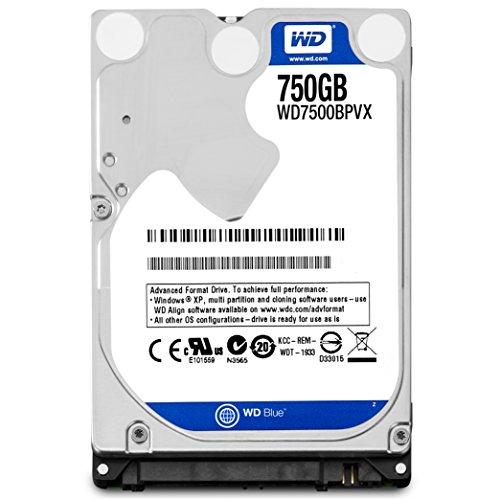 Western Digital Blue 750GB SATA 6Gb/s - Disco duro (Serial ATA III, 750 GB, 6,35 cm (2.5