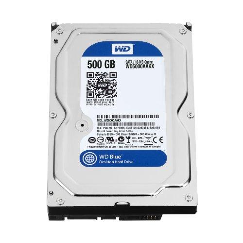 WD Blue - Disco duro para ordenadores de sobremesa de 500 GB (7200 rpm, SATA a 6 Gb/s, 16 MB de caché, 3,5