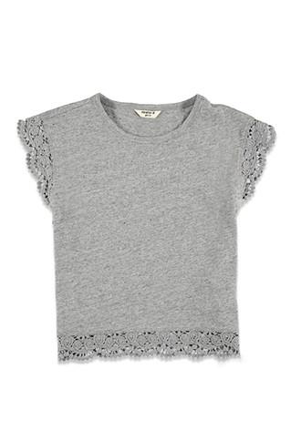 Camiseta Terminaciones Crochet (Niña)