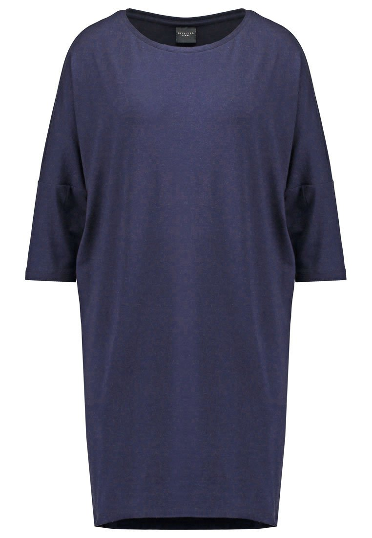 Selected Femme SFMELLIE GENOVA  Vestido de algodón navy blazer