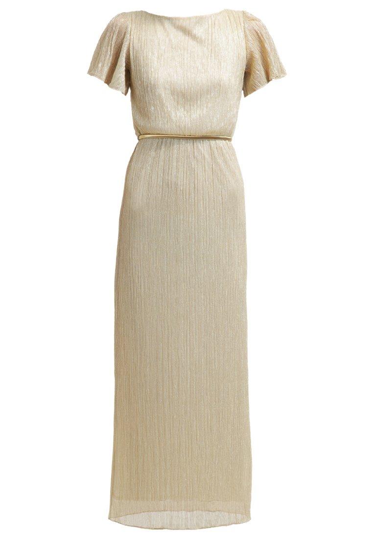 Miss Selfridge Petite Vestido largo metallic