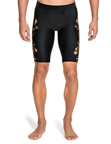 Skins - Culotte para hombre, talla S (Talla del fabricante : S), color negro / dorado