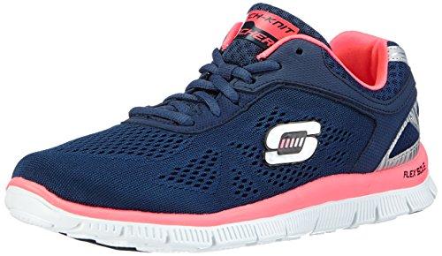 Skechers Flex Appeal - Love Your Style - Zapatillas de deporte para mujer, color azul, talla 39