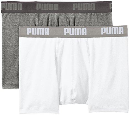 Puma Basic Boxer 2P - Calcetines para hombre, color gris, talla 35-38