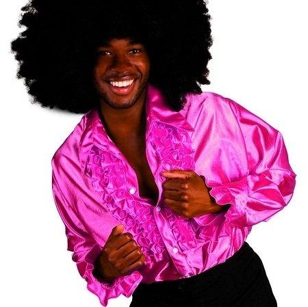 Camisa disco rosa hombre
