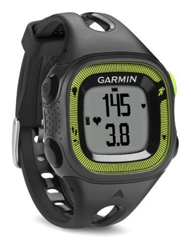 Garmin Forerunner 15 HRM -  Reloj deportivo con GPS y monitor de actividad con monitor de frecuencia cardiaca, color negro y verde, talla S
