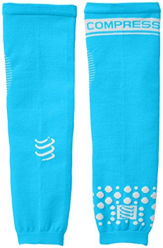 Compressport Arm Force - Calentadores de brazos de running para hombre, color azul, talla M