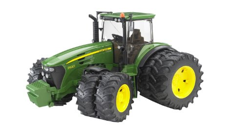 John Deere - Vehículo con doble rueda, color verde y amarillo (Bruder 3052)