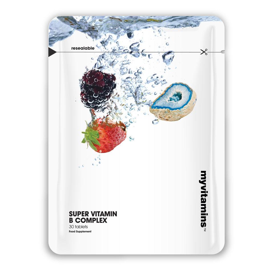 Super Vitamin B Complex, Pouch, 90 tablets