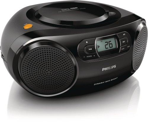 Philips AZ320/12 - Radio CD (2 W, Sintonizador estéreo FM/OM, USB), negro