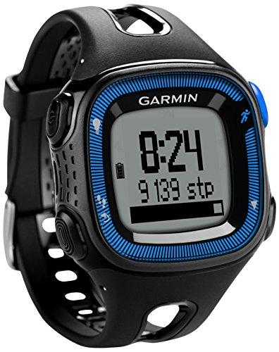 Garmin Forerunner 15 HRM -  Reloj deportivo con GPS y monitor de actividad con monitor de frecuencia cardiaca, color negro y azul, talla L