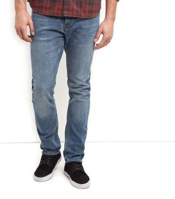 Blue Washed Slim Fit Jeans