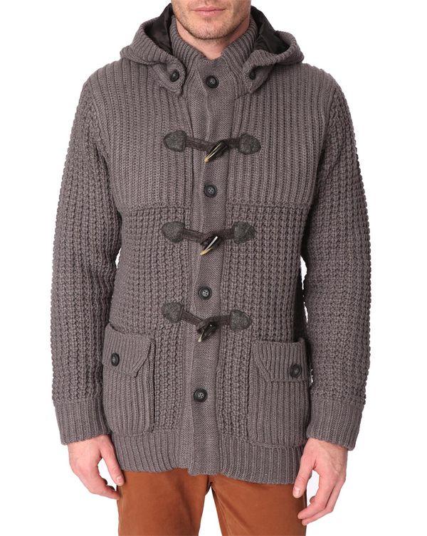 MENLOOK LABEL, Aaron Grey Thick-Weave Coat