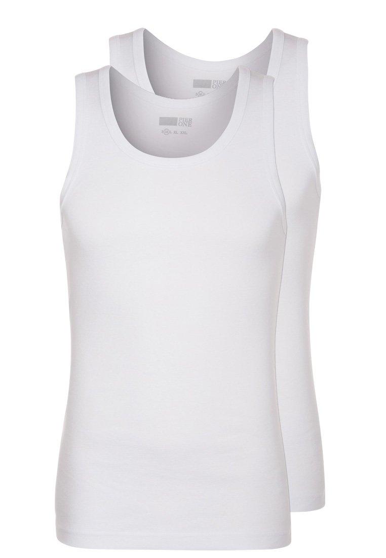 Pier One 2 PACK Camiseta interior white