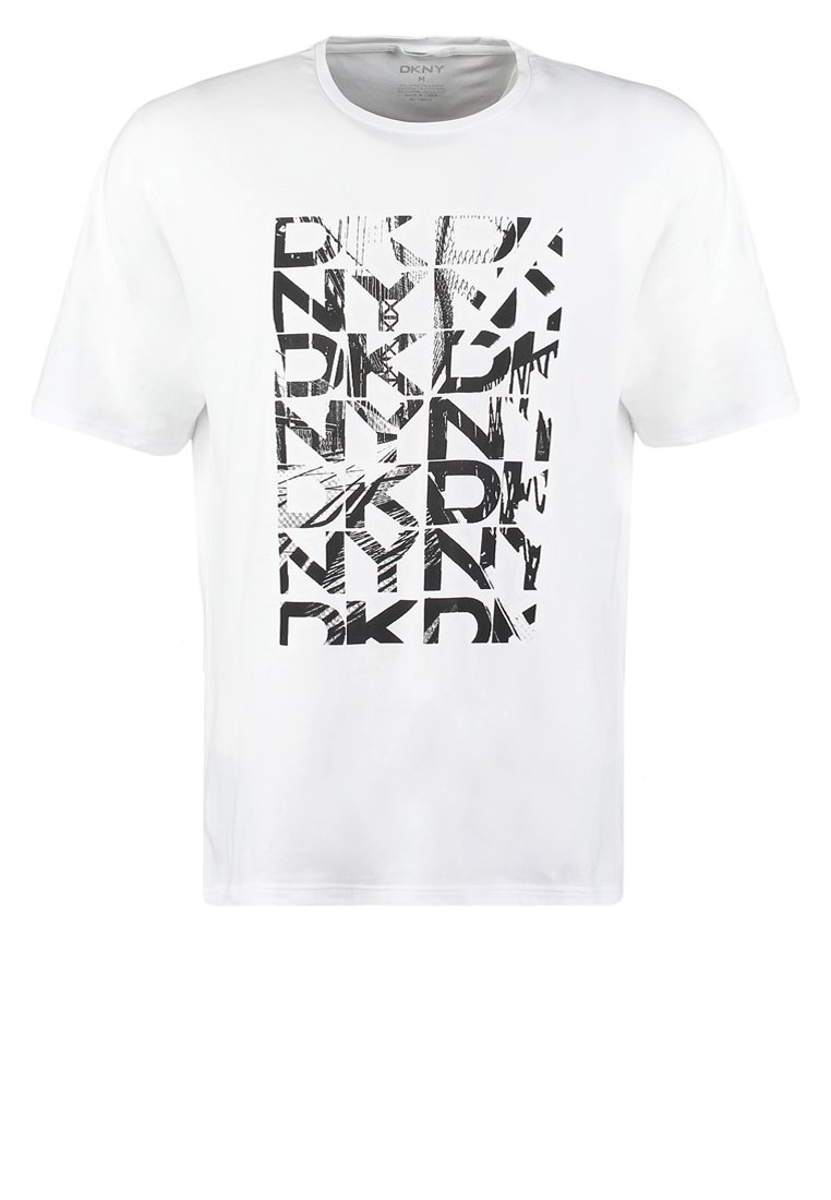 DKNY RELAXED FIT  Camiseta print white