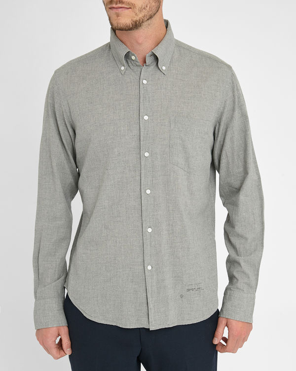 GANT RUGGER, Grey Madras Selvedge Shirt
