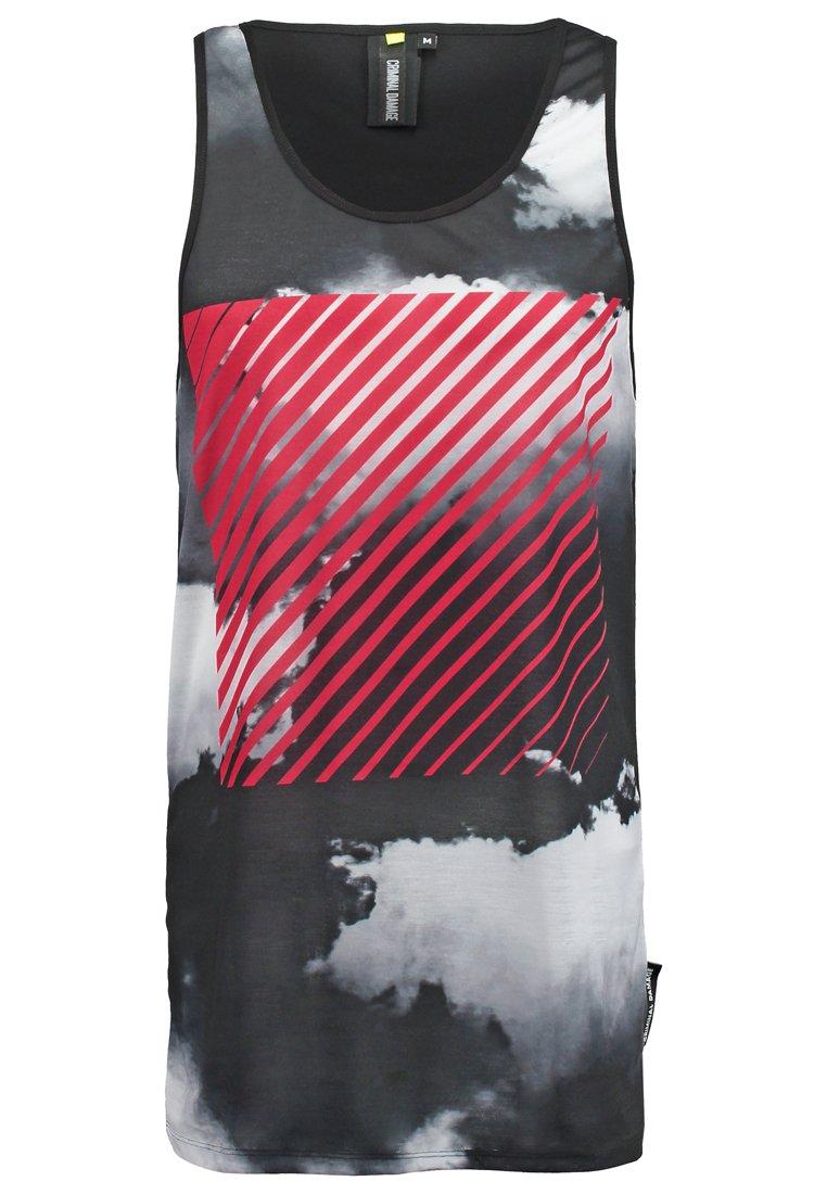 Criminal Damage Camiseta print black/red