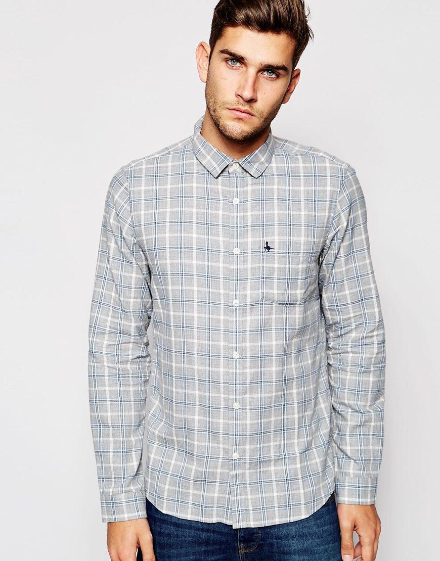 Camisa de franela a cuadros en azul grisáceo de Jack Wills