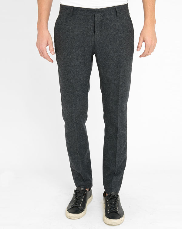 SELECTED, Charcoal One Mylo SHiver Chevron Trousers