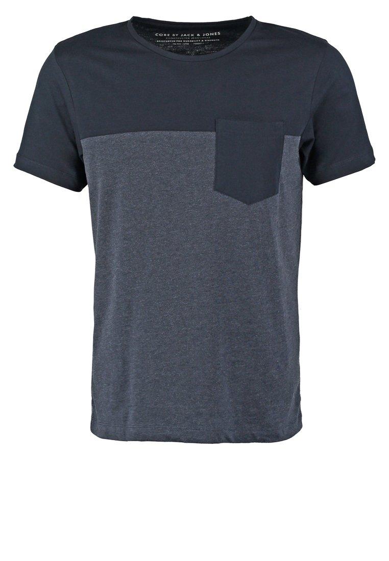 Jack & Jones JJCOBLOCKING SLIM FIT Camiseta básica black navy