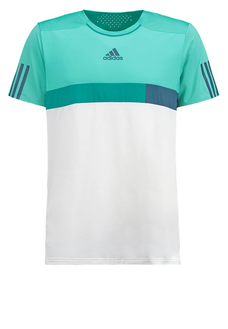 adidas Performance BARRICADE Camiseta print white/shock mint