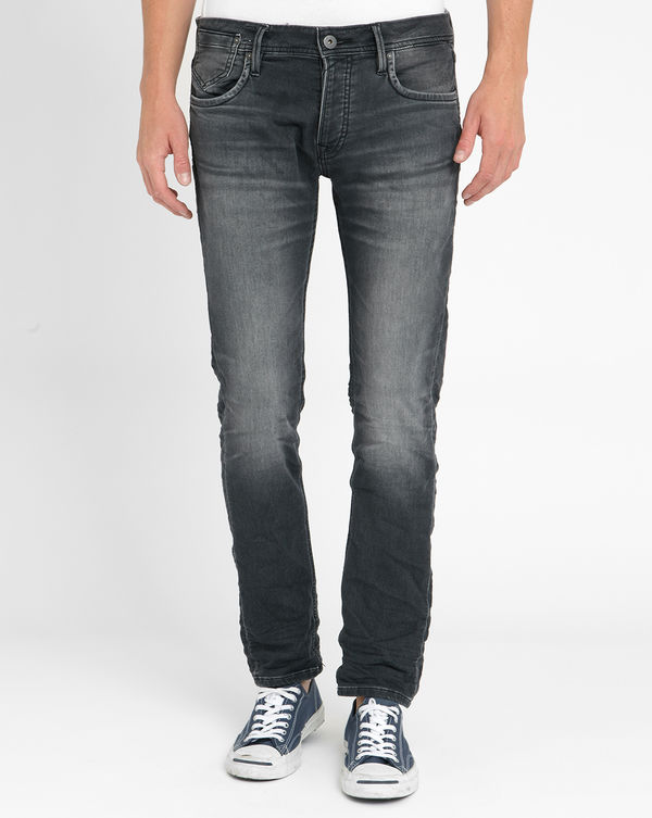 JACK & JONES, Faded Dark Grey Slim-Fit Jeans