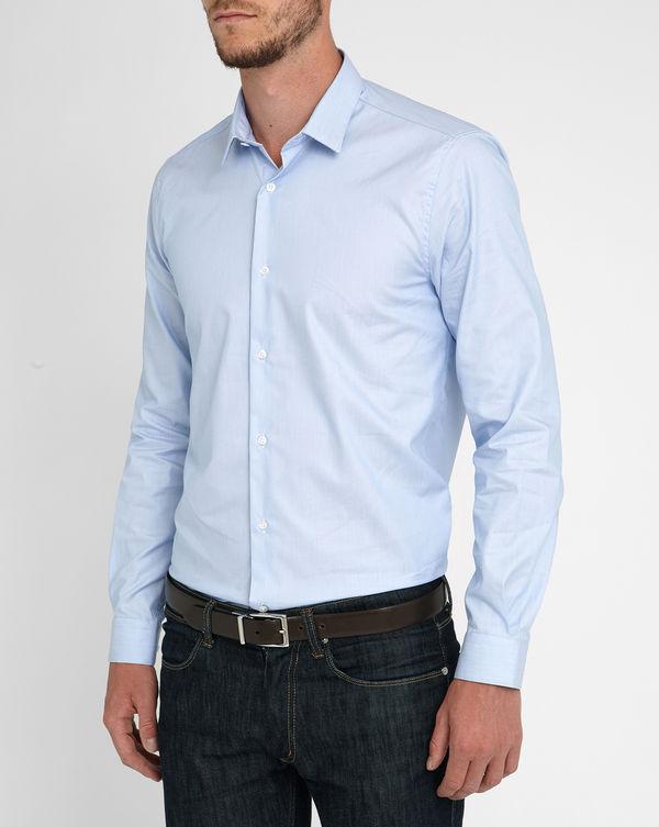 ATELIER PRIVÉ, Sky-Blue Small Collar Shirt