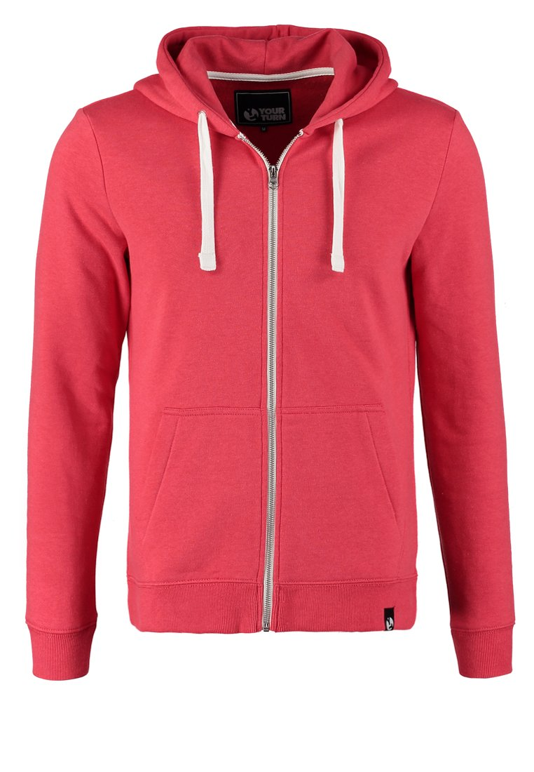 YOUR TURN Sudadera con cremallera mottled light red