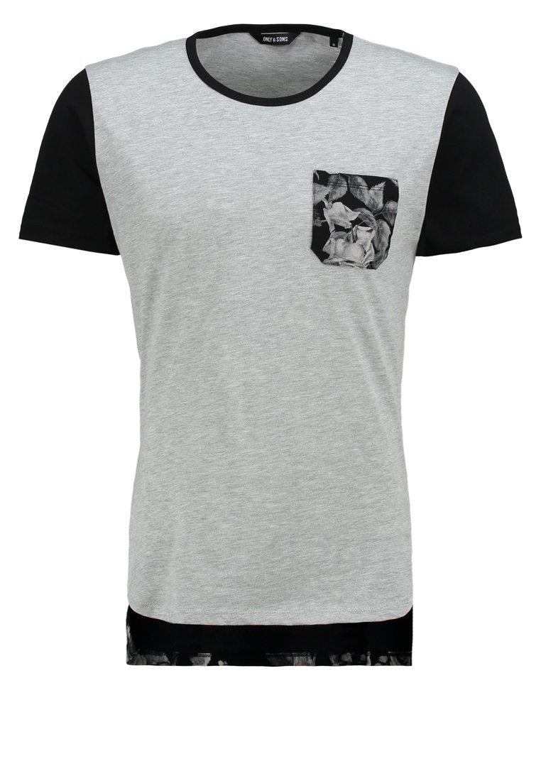 Only & Sons ONSNEMESIS Camiseta print light grey melanger