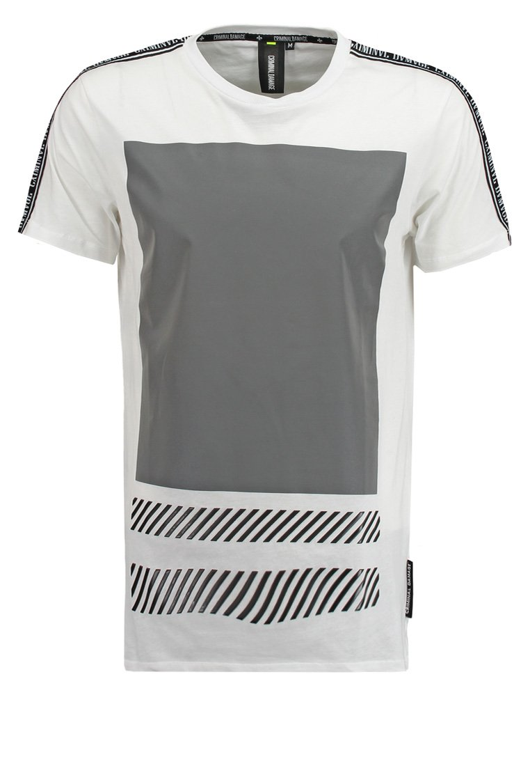Criminal Damage LED Camiseta print white/multi