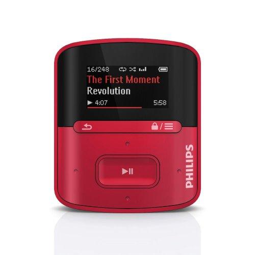 Philips SA4RGA04RN RaGa de 4 GB* Reproductor de MP3 - Reproductor MP3 (flash-media, 4 GB, LCD, 27.9 mm (1.1 ), 128 x 64 Pixeles, MP3, WAV, WMA) (importado)