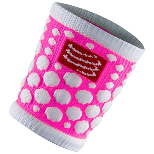Compressport 3d Dots - Muñequera de fitness para hombre, color rosa fluorescente, talla UK: Talla 5 to 6
