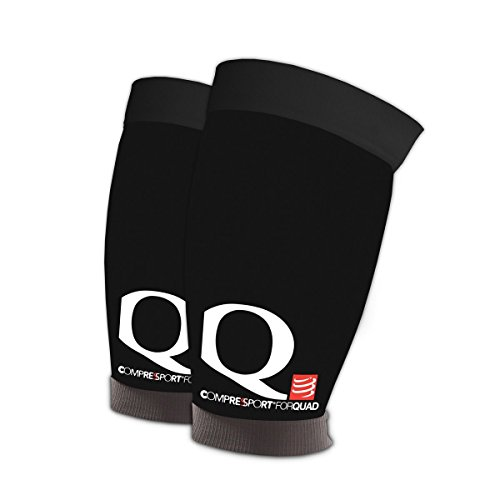 Compressport QT - Perneras unisex, color negro, talla T3