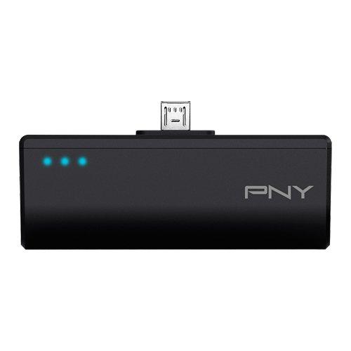 PNY DCM2200 - Batería externa recargable de 2200 mAh para smartphones, conector Micro USB